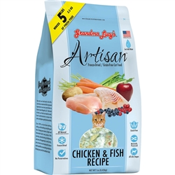 GRANDMA LUCY'S CAT FREEZE-DRIED ARTISAN GRAIN FREE CHICKEN & FISH 1LBOPY