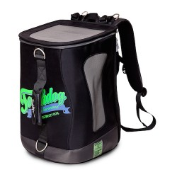 Black Touchdog Ultimate-Travel Airline Approved Backpack Carrying Water Resistant Pet Carrier